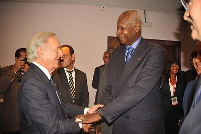 Othman Benjelloun et Abdou Diouf